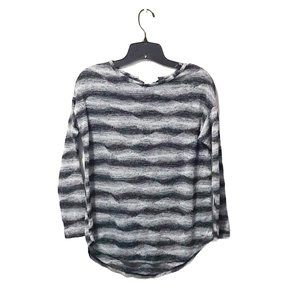 Two By Vince Camuto Gray Stripe Sweater